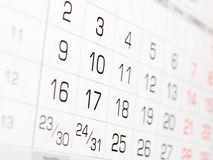 Wall calendar Royalty Free Stock Images