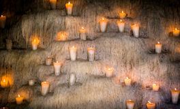 Wall of candles Stock Photo
