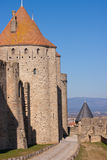 Wall of Carcassonne Stock Photos