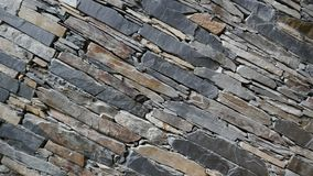Wall of carefully stacked nature stone pieces. royalty free stock photo