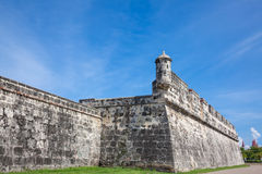 Wall of Cartagena de Indias. Colombia Stock Images