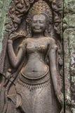 Wall Carving in Angkor Wat Cambodia Stock Image