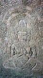 Wall Carving at Angkor Wat Stock Images