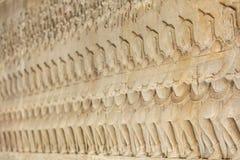 Wall Carving at Prasat Bayon Temple In Angkor Thom, Cambodia Royalty Free Stock Photo