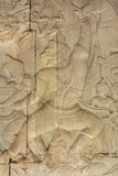 Wall Carving at Prasat Bayon Temple In Angkor Thom, Cambodia Royalty Free Stock Photography