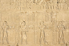 Wall carving, the temple of Edfu, Egypt Stock Images
