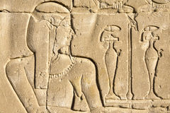 Wall Carving, The Temple Of Edfu, Egypt Stock Image