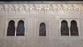 Wall carvings in Alhambra, Granada, Spain Royalty Free Stock Photo