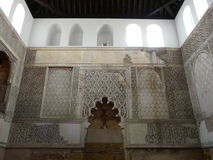 Wall carvings in the old Synagogue in Cordoba, Spa Stock Image