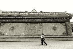 Wall Carvings, Sichuan, China. Royalty Free Stock Image