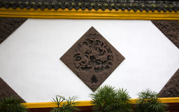 Wall Carvings Wenshu Yuan Temple China Royalty Free Stock Images