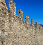 Wall of the Castelgrande fortress in Bellinzona. Wall of the medieval fortress Castelgrande in Bellinzona, Switzerland. The fortress is a UNESCO World Heritage Stock Image