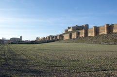 Wall and castle of Berlanga Stock Photography