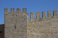 Wall of a castle Royalty Free Stock Images