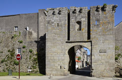 Wall of castle of Guérande in France Royalty Free Stock Images