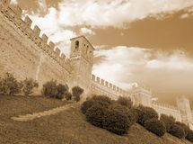 Wall of the castle Stock Photography