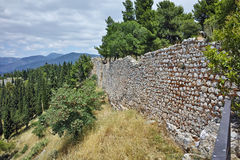 Wall of the castle of Lamia City, Central Greece Stock Photo