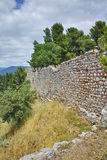 Wall of the castle of Lamia town Stock Image