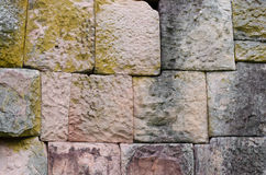 Wall at the castle. A texture and backgrounds of the old stone wall at the castle Royalty Free Stock Photos