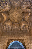 The wall and ceiling decoration at Nasrid Palace stock photos