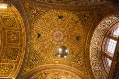 Wall and ceiling frescoes Stock Image