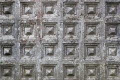 Wall of cement with a design of grid Royalty Free Stock Photo