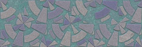 Wall ceramic pattern. Art mosaic- tile glaze bathroom. Home architecture decor- abstract stone background. Wall ceramic pattern- room interior. 3D rendering royalty free illustration