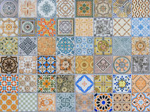 Wall ceramic tiles patterns Mega set Stock Photos