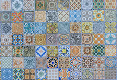 Wall ceramic tiles patterns Mega set from Thailand. Public park stock photos