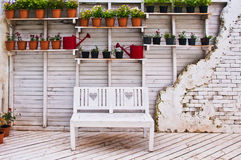 Wall with chair Royalty Free Stock Image