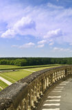 The wall of Chambord. Balcony of Chambord Castle in Loire Valley Stock Photos