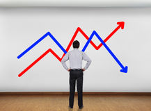 Wall with chart Royalty Free Stock Photo