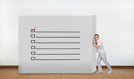 Wall with check box Royalty Free Stock Photo