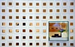 Wall checkerboard window Royalty Free Stock Photos
