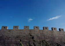 Wall am Chengshan-Kap in Weihai, Shandong Provinz, China Stockbilder