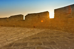 Wall of China Great Wall in sunset Stock Photo