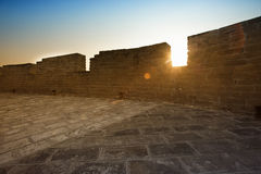 Wall of China Great Wall in sunset Royalty Free Stock Photography