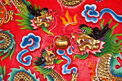On the wall in chinese temple Royalty Free Stock Photo