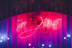 Wall with Christmas lighting Stock Images
