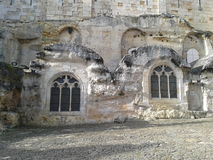 A wall church in Saint-Emilion, France Royalty Free Stock Images