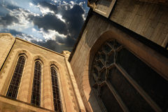 Wall of Church and Sky Royalty Free Stock Photos