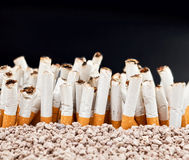 Wall of cigarettes Stock Image
