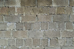 The wall of cinder block. Stock Photography