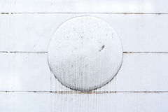 Wall with circle pattern. At center royalty free stock photo