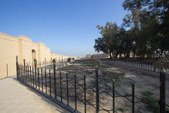The wall of the city of Babylon Stock Photography
