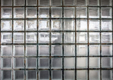 Wall of classical glass blocks as background Royalty Free Stock Photos