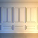 Wall in classical style. A 3d illustration of a white wall in classical style royalty free illustration