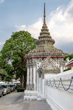 The wall and classical Thai architecture in Bangkok, Thailand. The wall and classical Thai architecture - Grand Palace, located in Bangkok, Thailand Stock Images