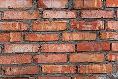 Wall of clay brick Royalty Free Stock Photos