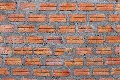 Wall of clay bricks texture background Stock Photos